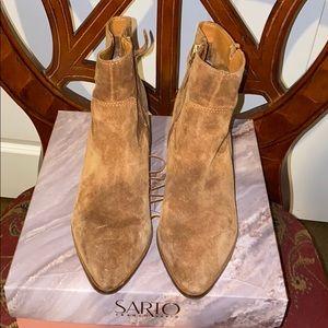 Franco Sarto whiskey color booties